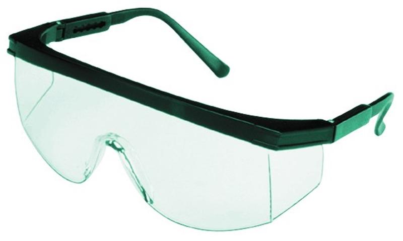 00029 GLASSES SFTY TEAL/CLR LEN WRAP