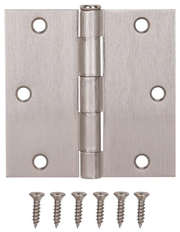 Mintcraft 20338snx Door Hinge 6 Hole 3 1 2 In L X 3 1 2
