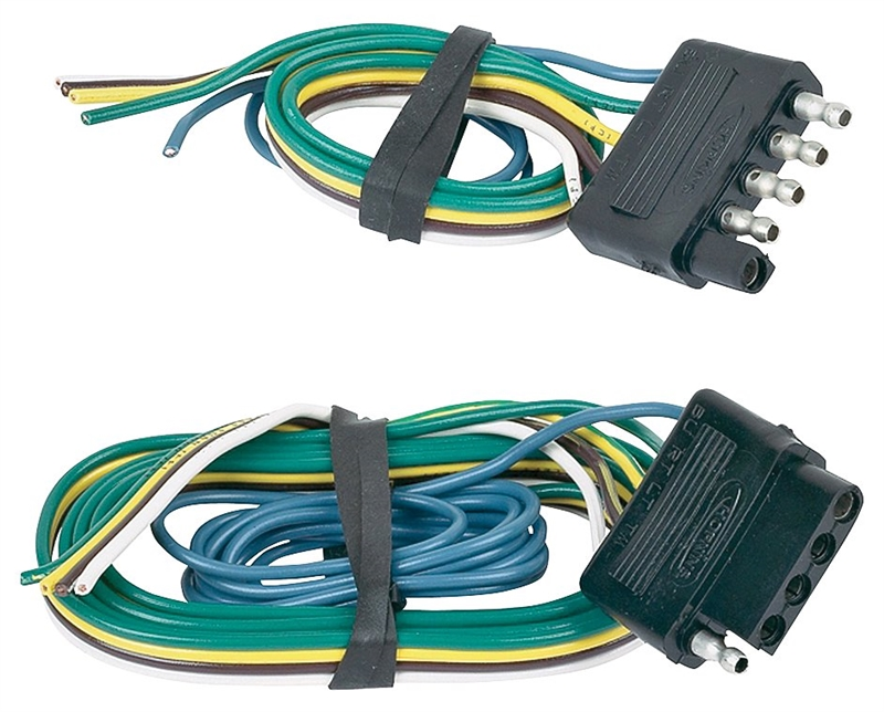 Hopkins 47895 Flat Trailer Connector Set 5 Wire 48 In Vehicle End 12 In Trailer End