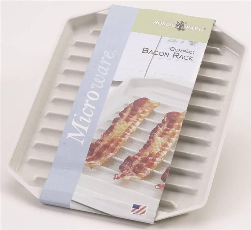 BACON RACK MICRWV CMPCT PLSTC & Nordic Ware 60110 Microwave Oven Bacon Rack Plastic