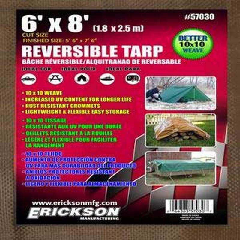 12 x 16 Erickson 57007 Blue Economy Poly Tarp