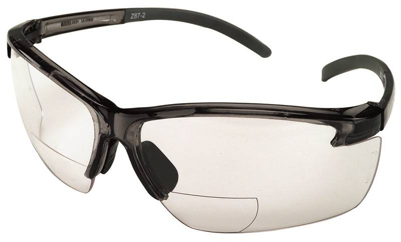 00454 GLASSES SFTY BIFOCAL BLK/CLEAR