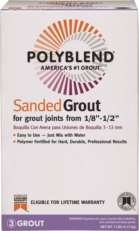 Polyblend Pbg1567 4 Sanded Tile Grout 7 Lb Box No 156 Fawn Solid Powder