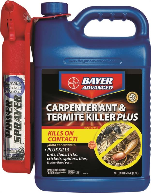 Bayer Advanced 700335a Carpenter Ant And Termite Killer With Battery Operated Power Sprayer 1 3 Gal Can