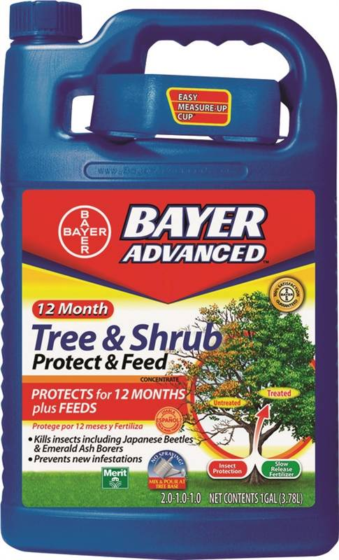 Bayer Advanced 701915a Concentrated Dual Action Slow Release Tree And Shrub Feed 1 Gal Can