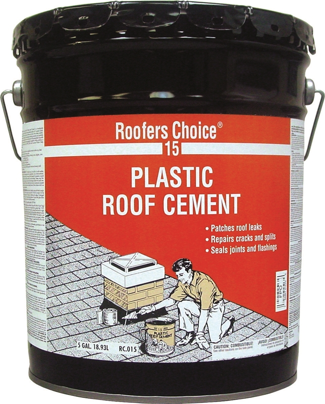 Henry Rc015070 Plastic Roof Cement 5 Gal Pail Black Fluid