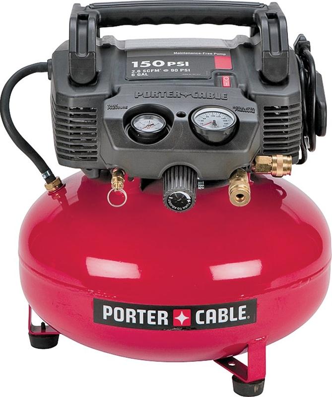 Porter Cable C2002 Air Compressor 6 Gal 150 Psi 26 Scfm At 90 Psi