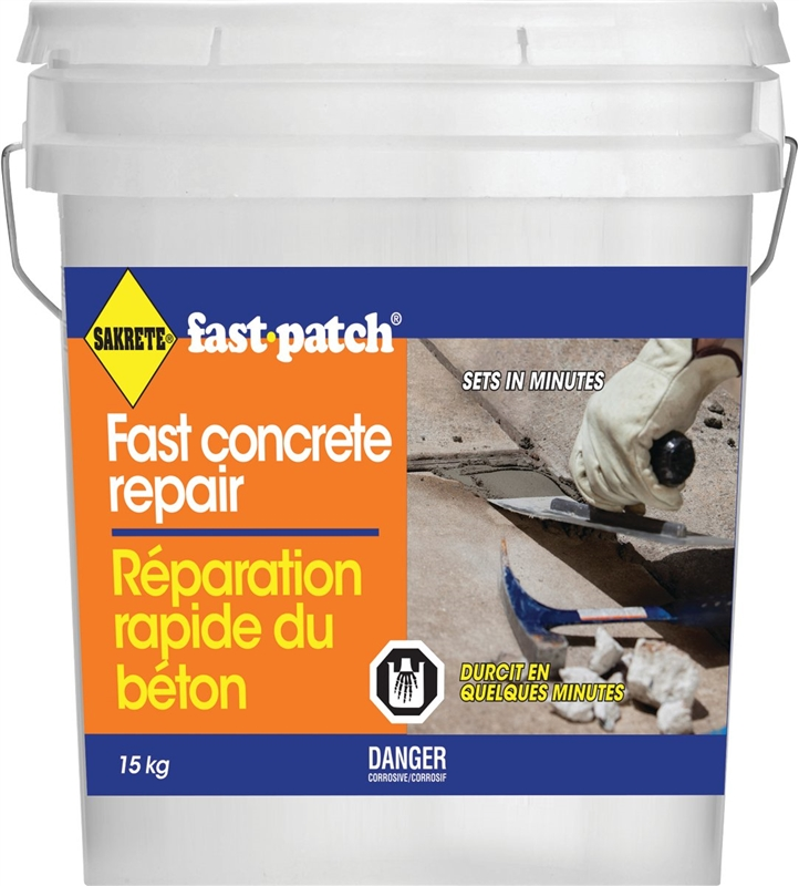 King 12091115 Sakrete Fast Patch Concrete Repair Pail 15 Kg