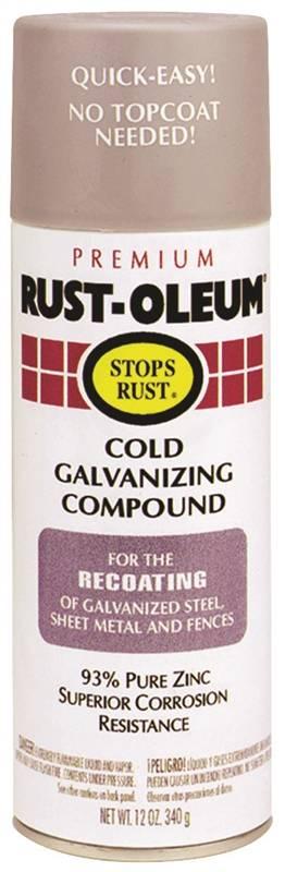 Stops Rust 7785830 Cold Galvanizing Compound, 16 oz, Liquid, Gray