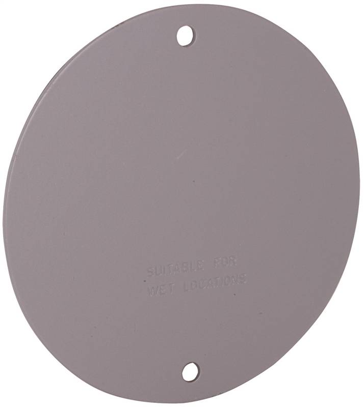 Hubbell 5374 0 Blank Cover Plates Round Aluminum Gray