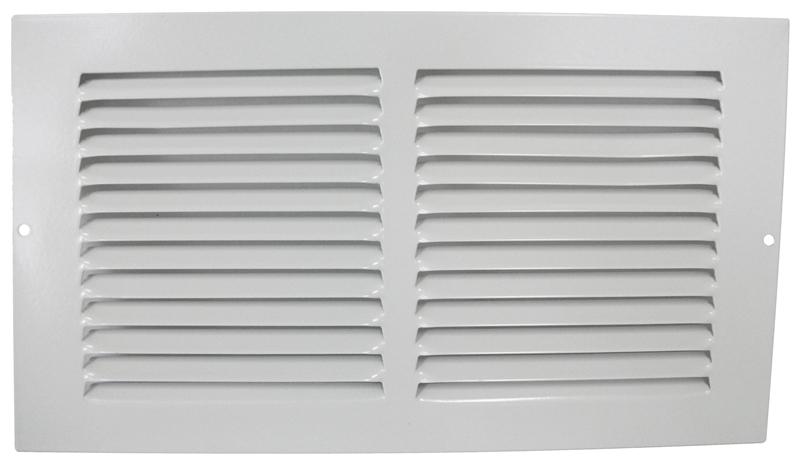 Mintcraft BBRA12X6 Baseboard Register, 6 in H x 12 in W, Stamped Steel,  White
