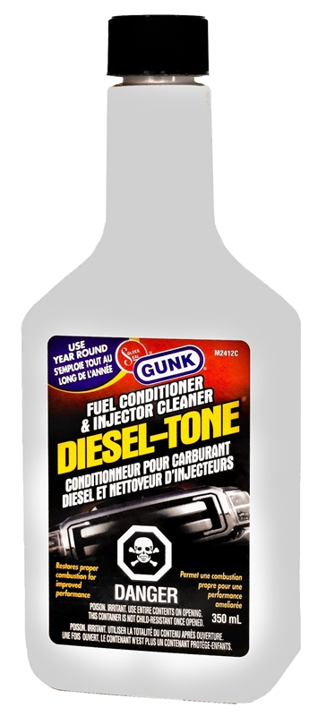 Gunk M2412C Diesel Fuel Injector Cleaner, 350 ml, Plastic Bottle, Light  Amber, Liquid