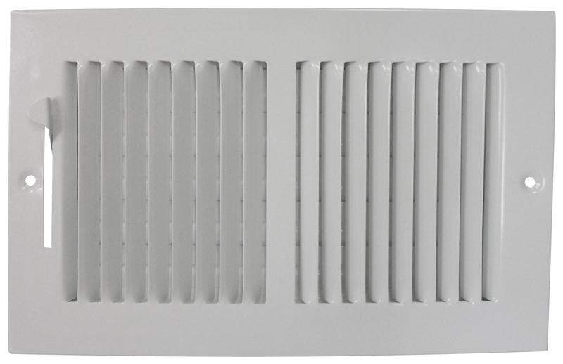 Mintcraft BB10X6W Baseboard Register, 6 in H x 10 in W, White