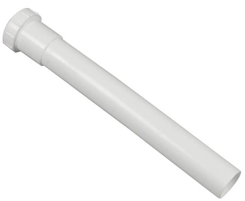1-1//2 x 12 Plastic White Plumb Pak PP911W Extension Tube 1-1//2 In Dia X 12 In L For Use With Existing Systems Solvent Weld