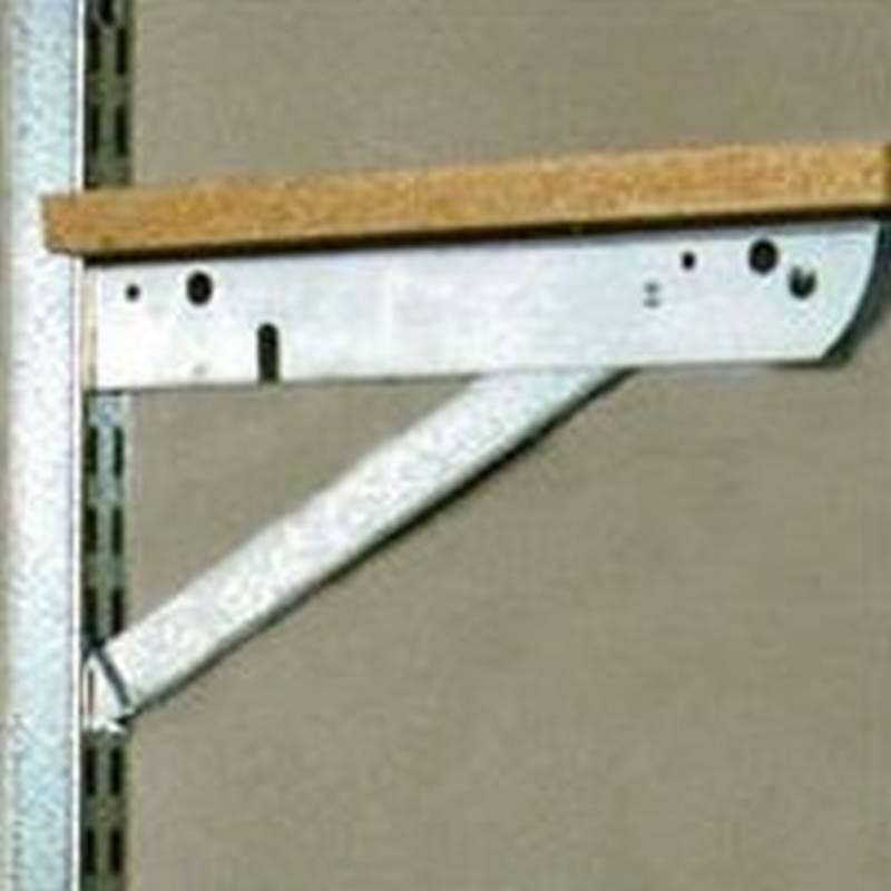 Knape & Vogt BK-0103-11 Heavy Duty Shelf Bracket, 11 in L, Steel