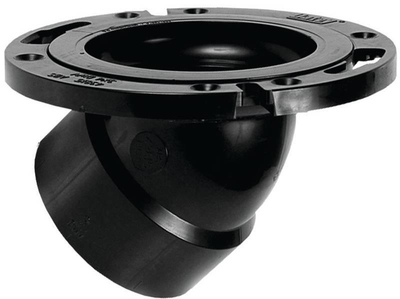Oatey 43815 45 deg Level Fit Closet Flange With Plastic Ring
