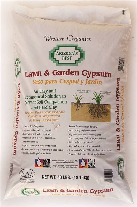 amendment soil gypsum 40lb - Garden Gypsum