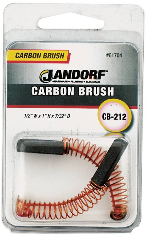 Jandorf CB-212 Motor Brush, 1 in L X 1/2 in W X 7/32 in Thick, Carbon