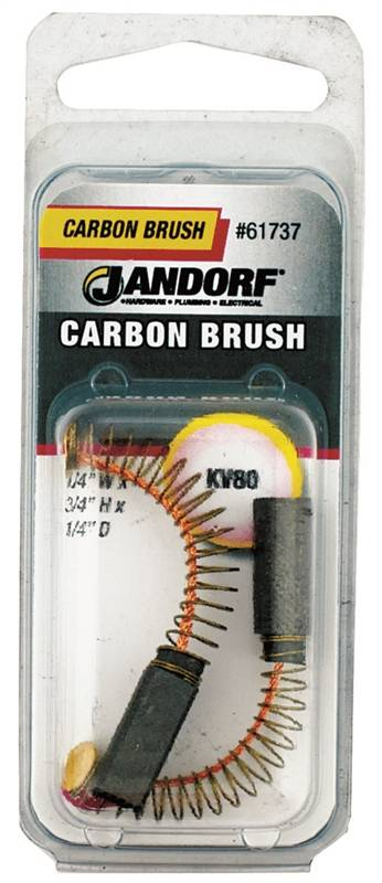 Jandorf KV80 Motor Brush, 3/4 in L X 1/4 in W X 1/4 in Thick, Carbon