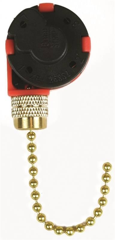 Jandorf 60303 3 Speed Fan Switch 250 V 3 A Black