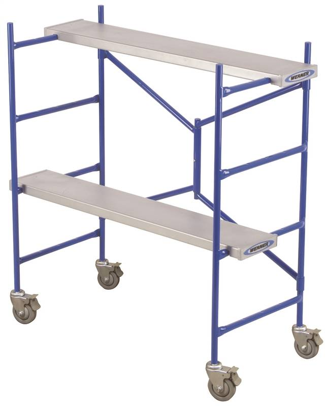 Portable Scaffolding Platform : Werner ps heavy duty portable rolling scaffold lb