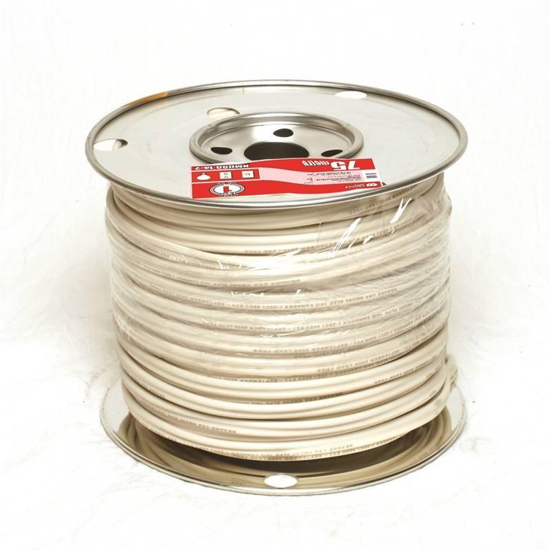 Romex 9060591 Type NMD90 Building Wire, 14 AWG, 75 m, PVC/Nylon