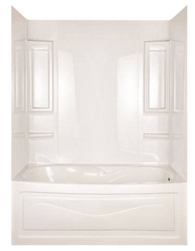 Vantage 39240 5-Piece Surround Bath Tub Wall Kit, 28 - 31 in L x 49 ...