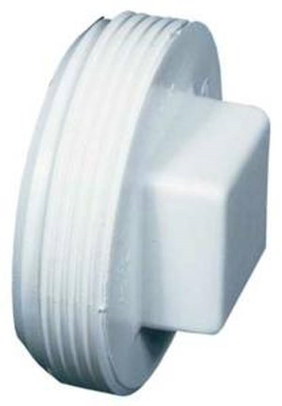 Ipex 040924 Solvent Weld Cleanout Plug 4 In Mpt Pvc