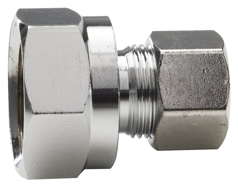 3//8 in Od Plumb Pak PP81PC Compression Nut with Ring Chrome Plated