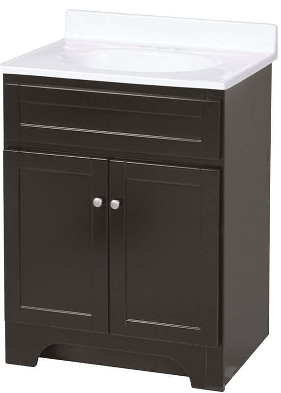 Foremost Columbia Coeat2418 Contemporary Bathroom Vanity 24 In W X 18 In D X 36 1 4 In H