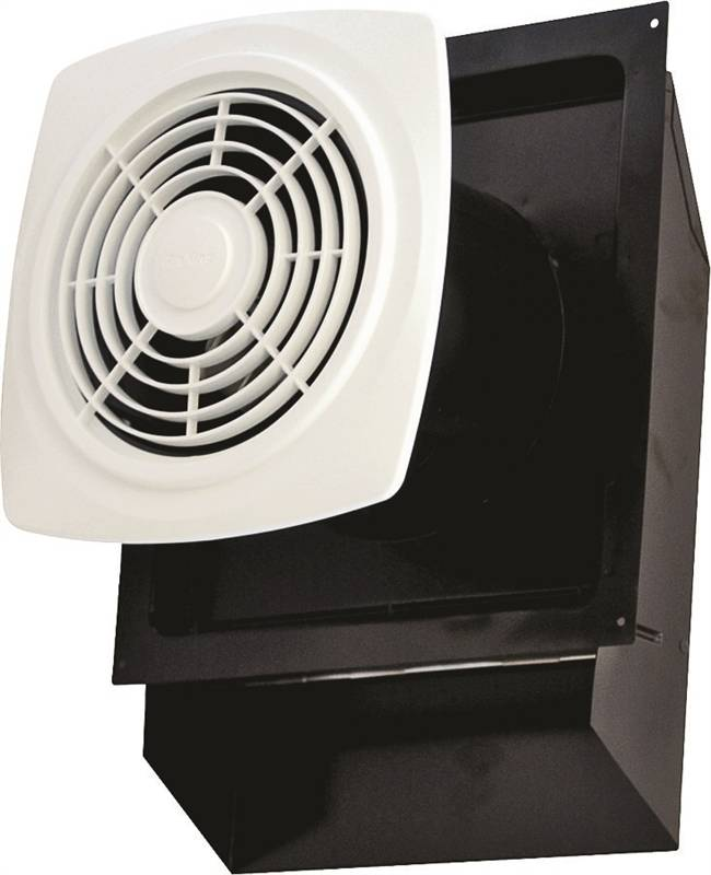 Air king ewf180 through the wall exhaust fan 180 cfm 80 w white for Air king bathroom fan light combo