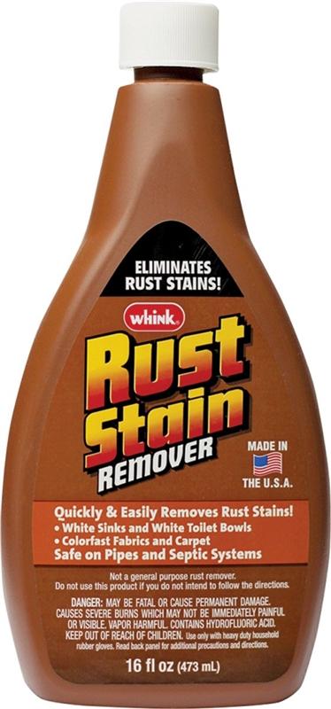 whink 01291 rust stain remover 16 oz sharp acrid bottle liquid. Black Bedroom Furniture Sets. Home Design Ideas