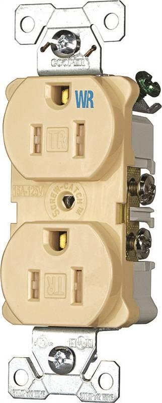 15a 2wire Std Brwn Dupl Recpt,No 736B-BOX Cooper Wiring Devices Inc