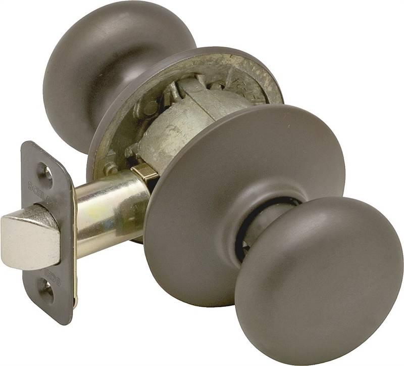 Schlage Plymouth F10 Round Full Ball Door Knob Lockset, Unkeyed ...