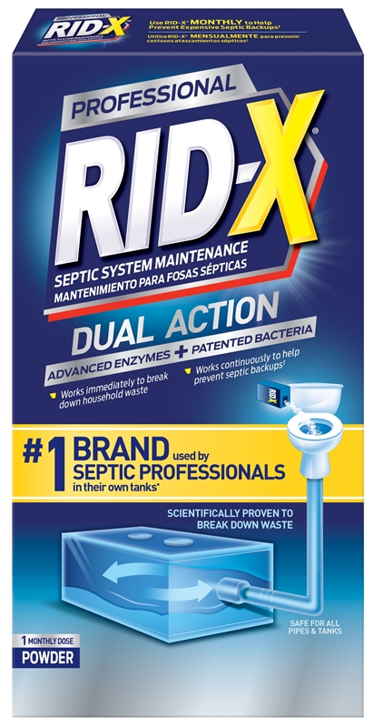 RID-X 1920080306 Septic Tank Cleaner, 9 8 oz, Light Brown, Powder
