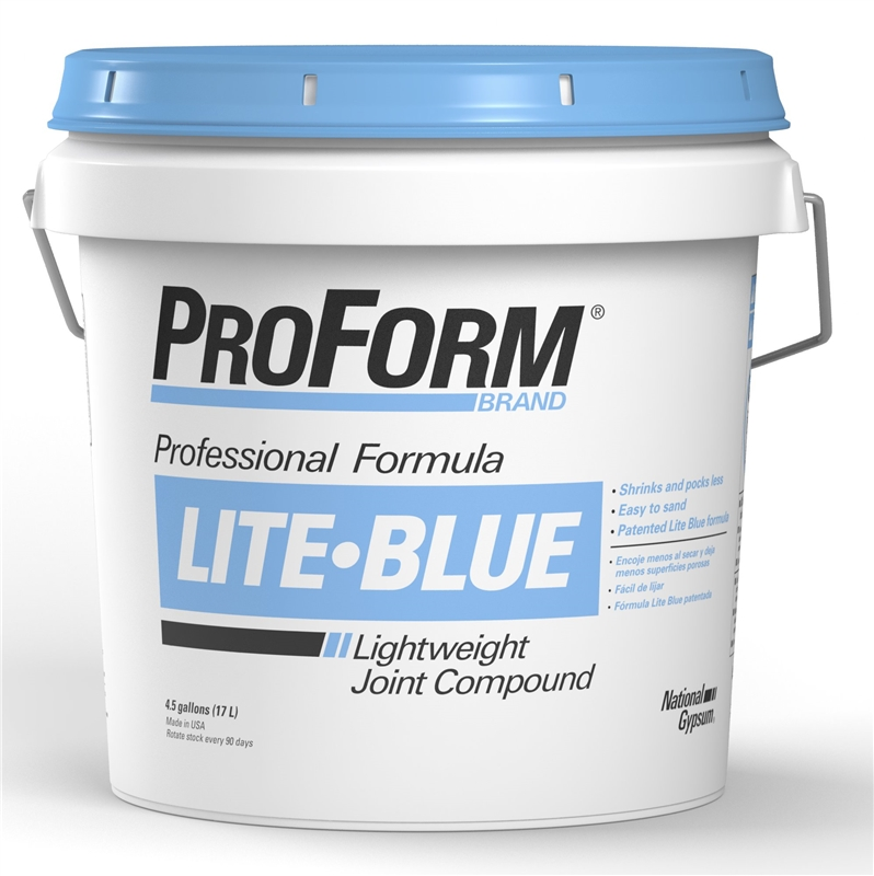 Proform Lite Blue Jt0083 Lightweight Professional Grade Ready Mix Joint Compound 4 5 Gal Pail White To Gray