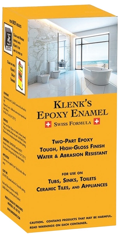 Klenk's 815250 Epoxy Enamel Paint, 500 ml, 65 sq-ft/l, White