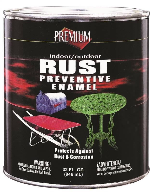 Rustoleum Premium Oil Based Rust Preventive Enamel Paint 1 Qt Can White Flat