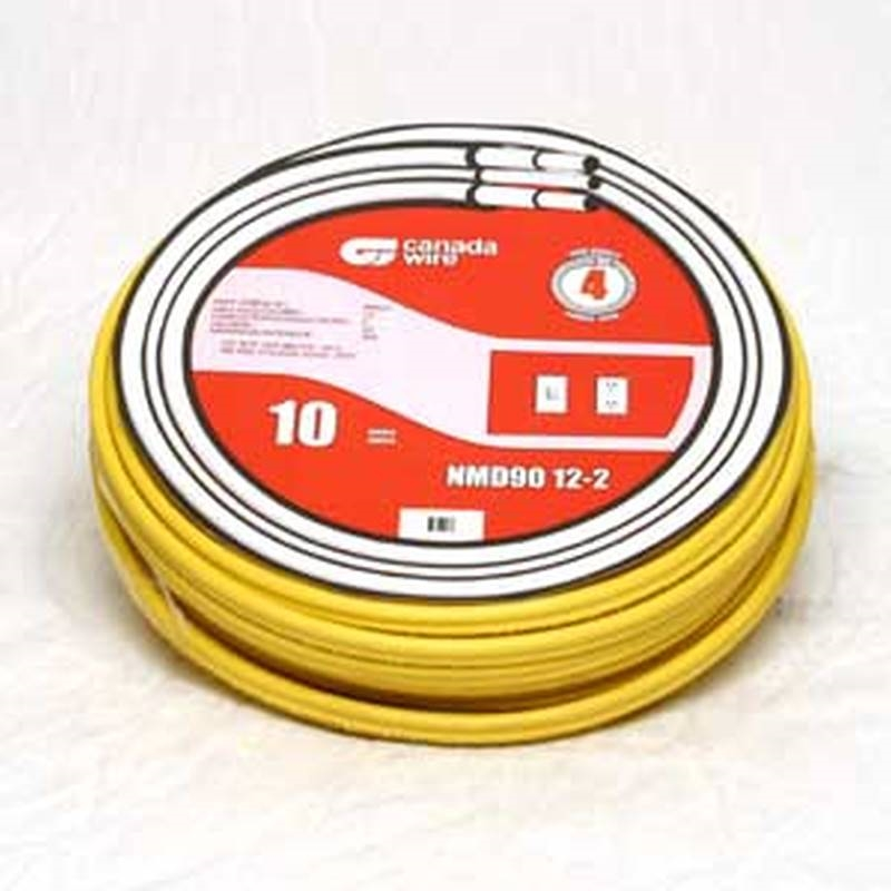 Romex 004889 Type NMD90 Electrical Wire, 12 AWG, 30 m, PVC/Nylon