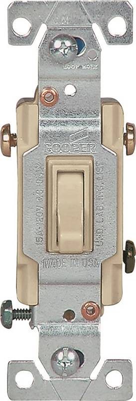 Cooper 1303 7 Framed Grounded Toggle Switch 120 Vac 15 A