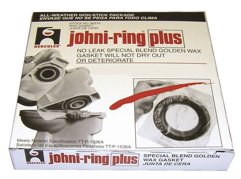 Johni-Ring 90210 Wax Ring, For Use With 3 in, 4 in Waste Line Closet Toilet  Bowls