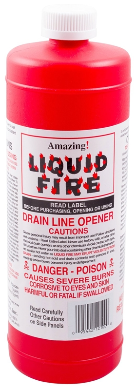 Drain Opener Liq Fire 32oz Case Of 12