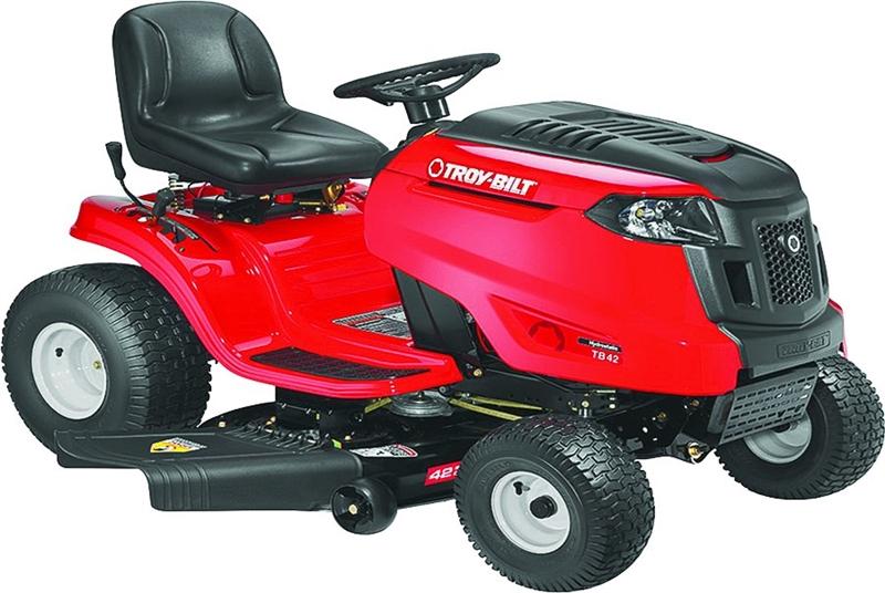 Troy-Bilt 13A879KS066 Hydrostatic Lawn Tractor, 42 in W, 20 hp, 547 cc OHV,  Single Cylinder Engine, 2 gal Gas
