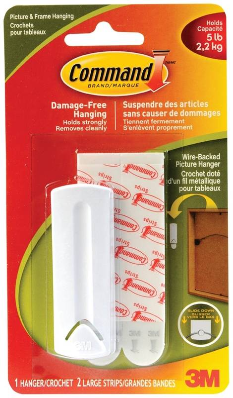 Hook Removeable Adhesive White Case Of 6