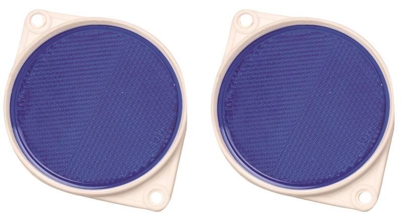Hy-Ko CDRF-3B Reflector, 3-1/4 in Dia, Break Resistant Plexiglas, Blue