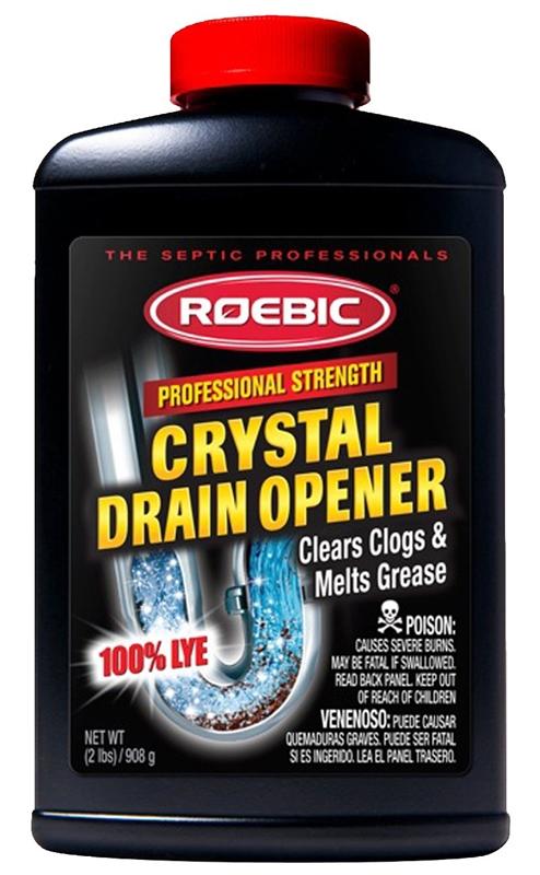 Roebic HD-CRY-DO-6 Crystal Heavy Duty Drain Opener, 2 lb, White, Granular