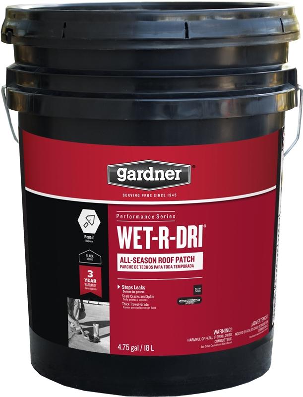 Gardner Gibson Wet R Dri Plastic Roof Cement 5 Gal Black