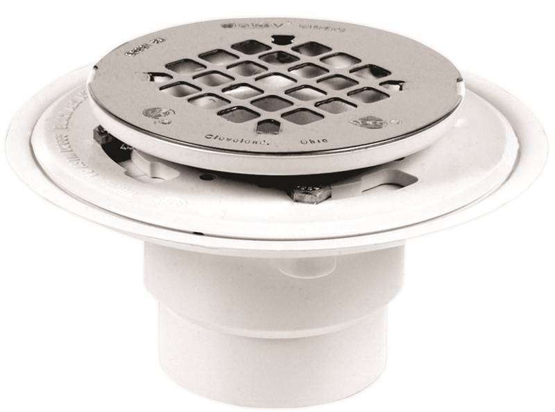 Oatey 130 Shower Drain With Round Stainless Steel Snap
