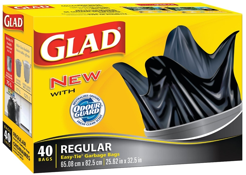 Glad Easy Tie 11858 Garbage Bag