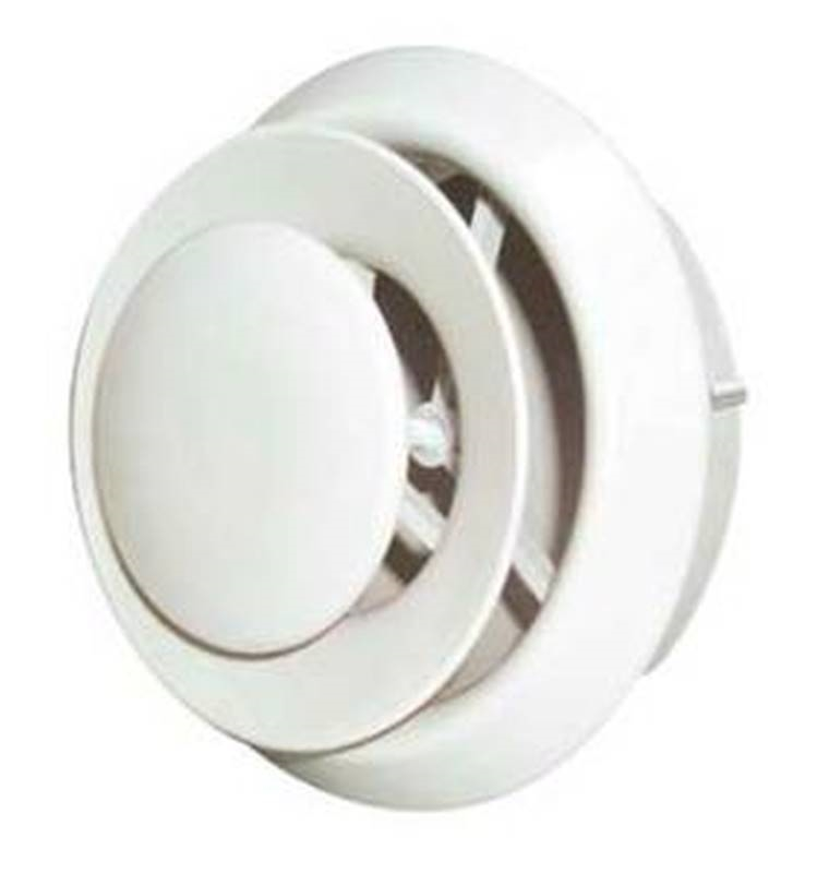 Imperial Vt0111 Round Air Diffuser 5 Or 6 In W Plastic White